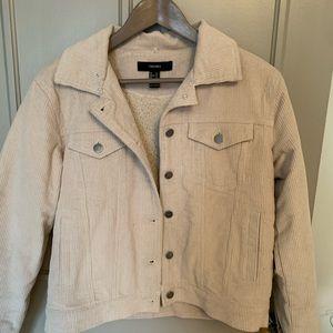 Beige curdoroy jacket